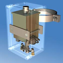 Oil Water Separator Component Drawing Render