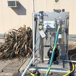 Rental Oil Water separator on food manufacturing grease trap