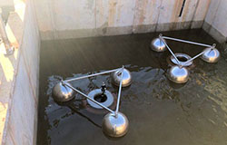 Ultraspin Oil Skimmer in Dairy effluent pit