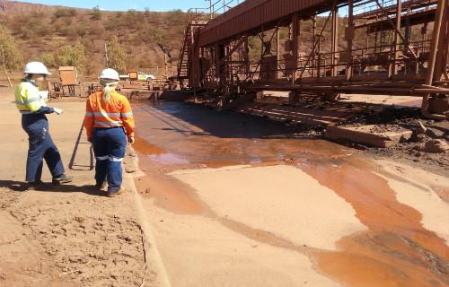 HV Washpad sediment pit
