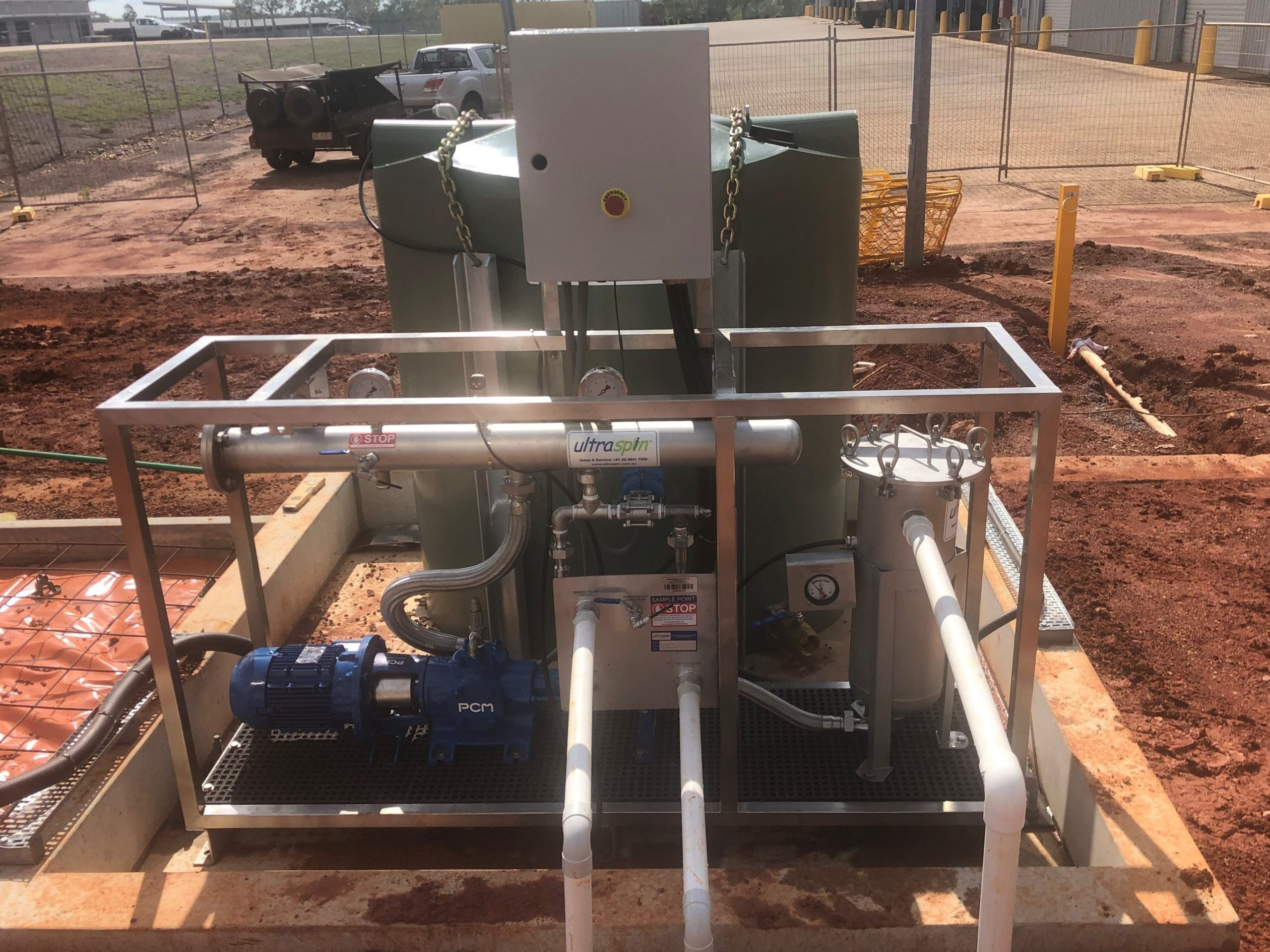 Oily water separator on site